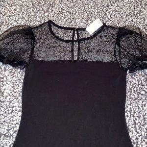 Express part mesh short sleeve shirt